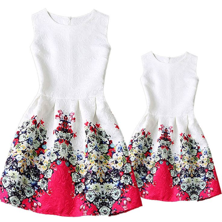 $18 Mother and daughter Dress   Mum Size S-M-L-XL Baby Size 130-140-150-160