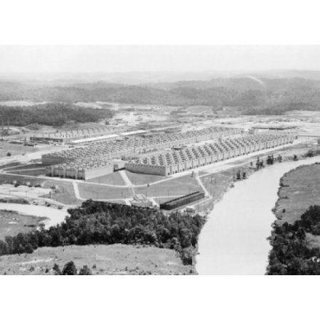 Aerial view of a nuclear laboratory Oak Ridge National Laboratory Oak Ridge Tennessee USA Canvas Art - (18 x 24)