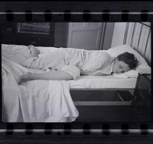 Robert Capa, [Gerda Taro sleeping, Paris], 1935-36, Negative  by PRI's The World, via Flickr