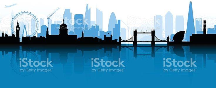 London Skyline Silhouette royalty-free stock vector art