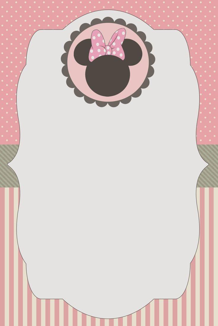 Para incrementar as postagens fofas da Minnie aqui no blog . Eu encontrei este kit gratuito para imprimir, muito fofo, da Minnie no blog On...