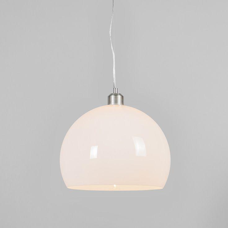 Hanglamp Globe 30cm wit - Woonkamerverlichting - Verlichting per ruimte - Lampenlicht.nl 48,50