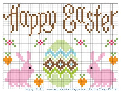 Easter freebie - use the bunnies or the egg for Easter socks!