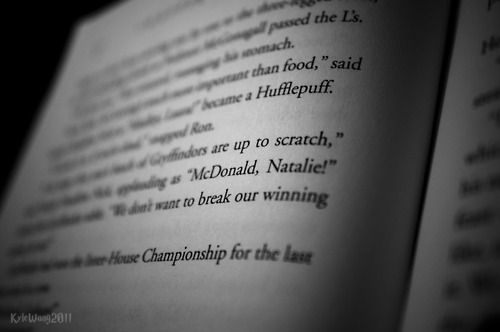Natalie McDonald, who appears on page 159 of Harry Potter and the Goblet of Fire, was a real person. She was a nine-year-old girl from Toronto, Canada, who was dying of leukemia. She wrote to J.K. Rowling asking what was going to happen in the next Harry Potter book since she would not live long enough to read it.