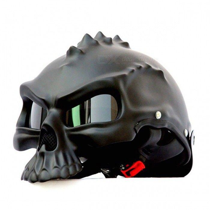 Capacete de motocicleta semi-facial de dupla utilização - Preto (M)