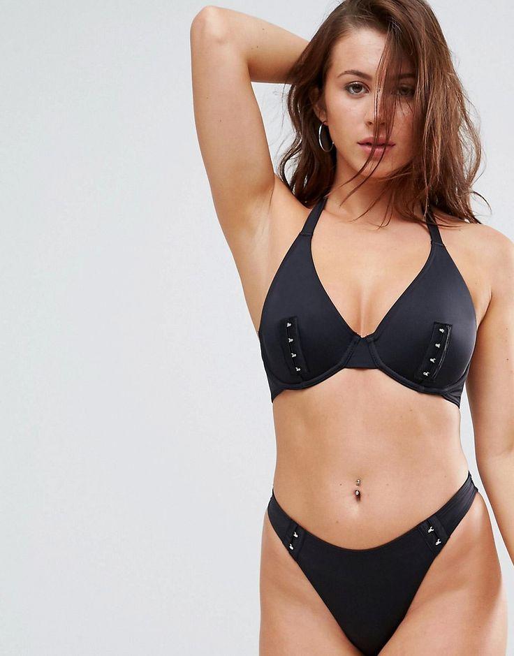 ASOS FULLER BUST Mix and Match Hidden Underwire Bikini Top with Hook a