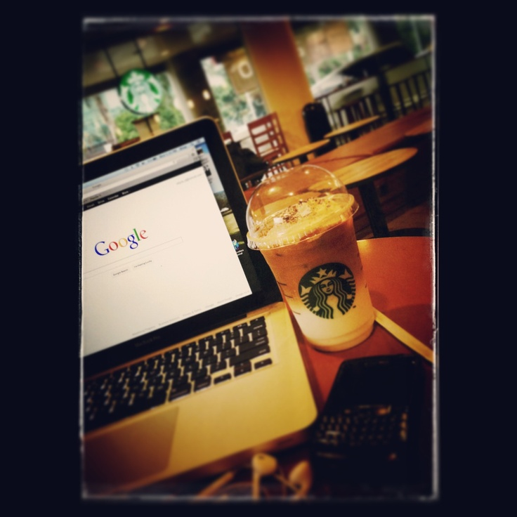 Asian dolce latte + macbook pro + blackberry + iphone #quality time