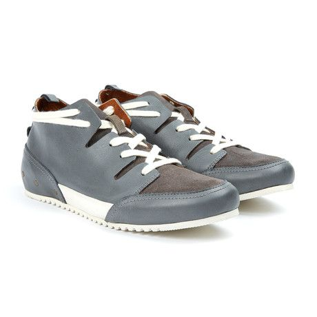 MCNDO // Champs Leather Sneaker // Grey