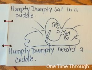 Humpty Dumpty Rhyming Activity