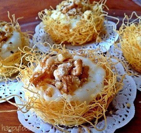 Kadayıf Dish Custard