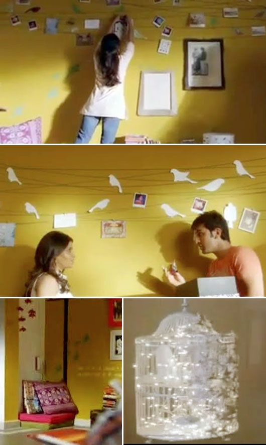 "Was searching for this pic of the bird wall from the ""Wake Up Sid"" movie for ages!!!"