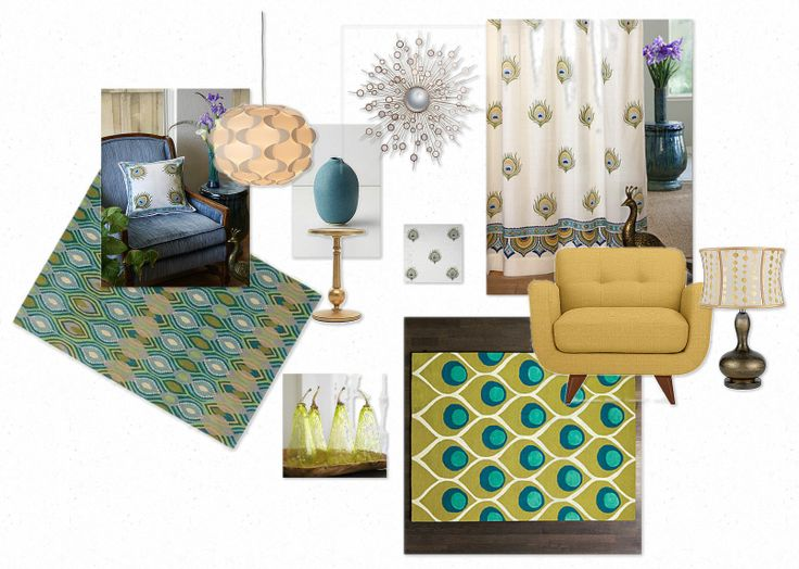 More Peacock Living Room Ideas