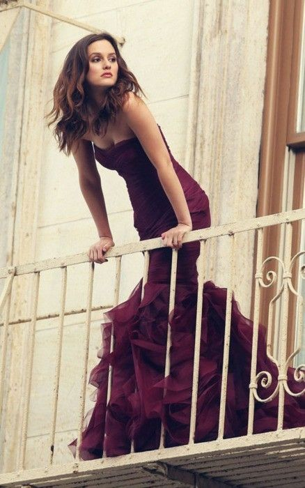 Awesome Burgundy Gown - Love this color and style for formal bridesmaids dresses