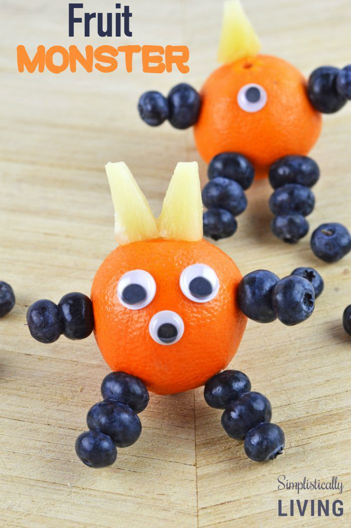 Make A Fruit Monster for School Lunches! Simplistically Living