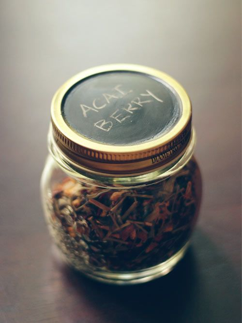 Amanda Wright over at Wit & Whistle came up with this stylish use for a jar! It will certainly add style to your kitchen. Loose leaf teas...   http://putitinajar.com/crafts/diy_tea_storage_jars/
