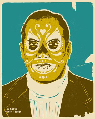 El Santo (the Saint), was a Mexican Luchador enmascarado (Spanish for masked professional wrestler). .....great costume idea for the MAN of the house.