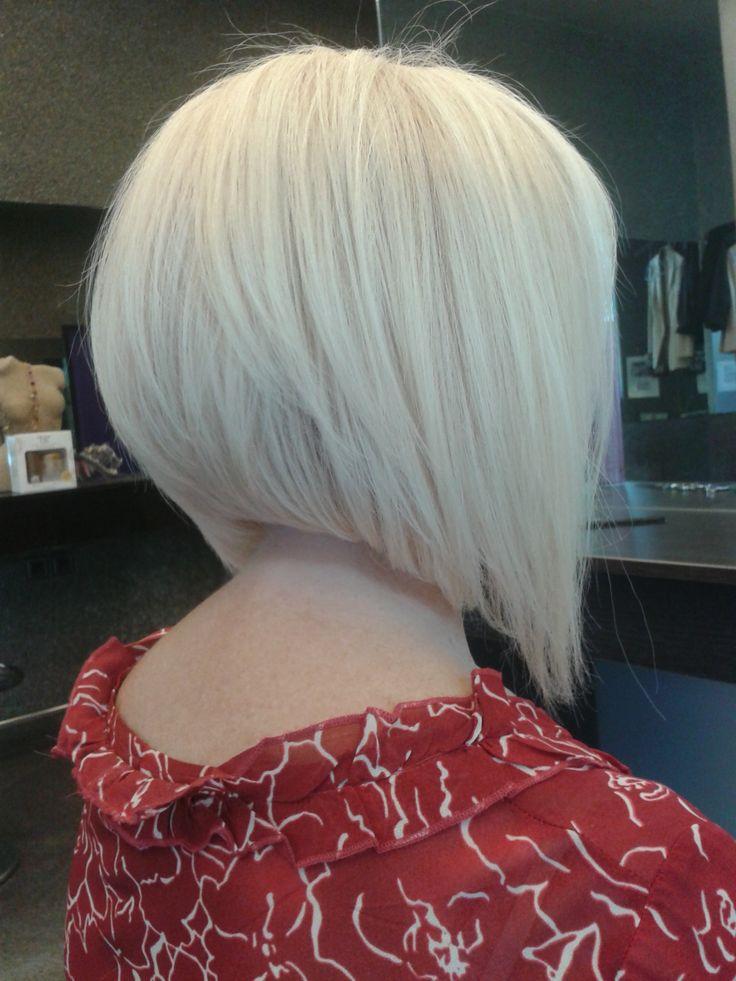 Ξανθό ασύμμετρο κούρεμα / Blond asymmetry haircut