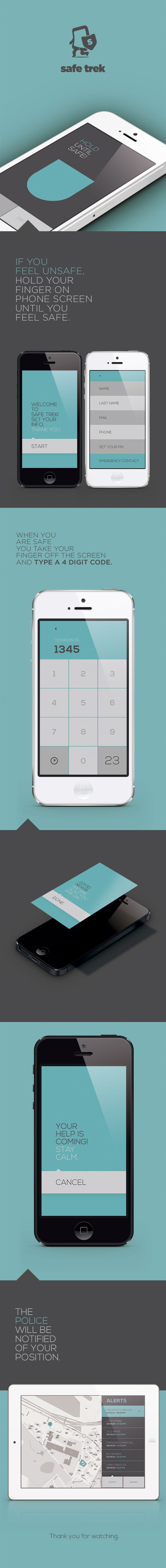 Safe Trek by Frederico Cardoso, via Behance - #UI love the simplicity of it