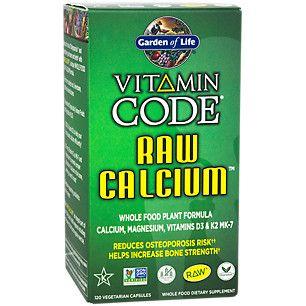 RAW CALCIUM (120 Vegan Capsules) by Garden of Life at the Vitamin Shoppe