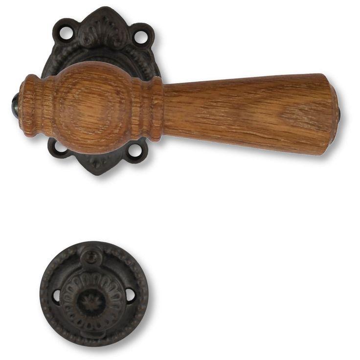 Dørgreb indendørs, Kyner Beslag, Østerbro dørgreb i sort træ og sort jern. Fri fragt!