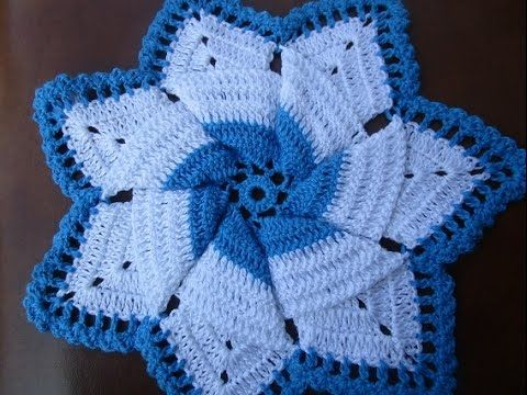 Crochet Vintage Granny Easy Dress Hot pad Potholder Anne's Style DIY Tutorial - YouTube