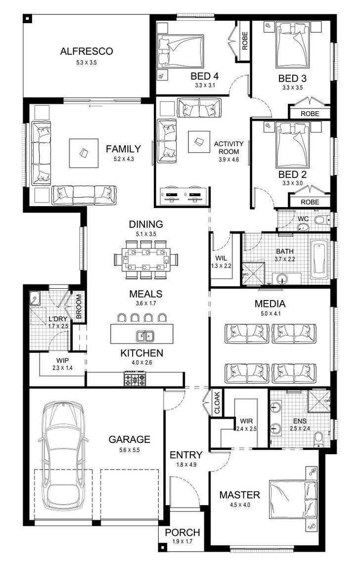 Ruby 30 - Single Level - Floorplan by Kurmond Homes - New Home Builders Sydney NSW