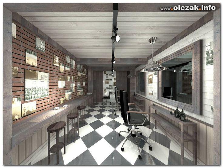 Architekt Maciej Olczak - projekt wnętrz, zakład fryzjerski