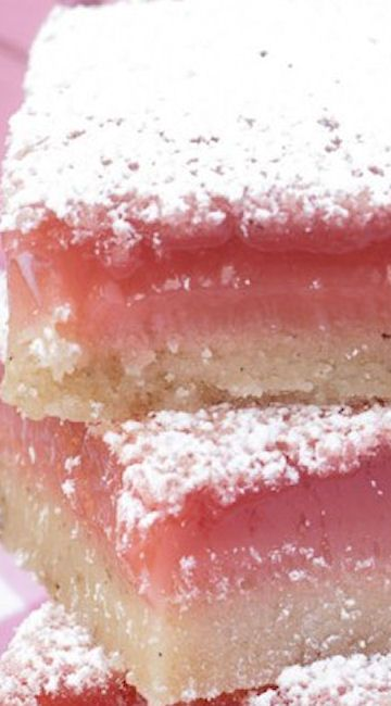 Hibiscus Lemon Bars - insanely good - tangy lemon married with the bright berry flavor of hibiscus tea! ^