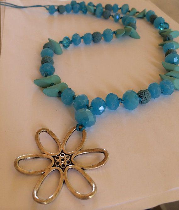 "Handmade Long Necklace, Style, Fashion, Women, Jewelry, ""Blue Sky"" on Etsy, 20,00€"