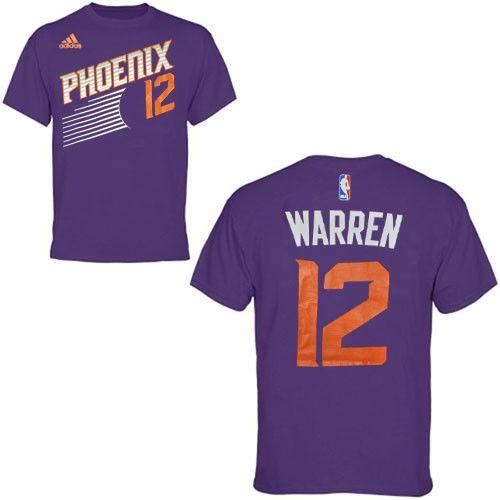 Phoenix Suns Purple #12 TJ Warren Name and Number T-Shirt