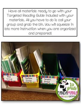 Targeted Guided Reading Plan