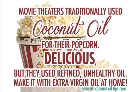 Coconut Oil Popcorn Recipe -- The Healthy Way! - Coconut Oil Tips