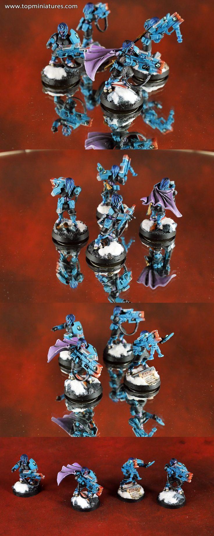 Warhammer 40k tau empire pathfinders females conversions