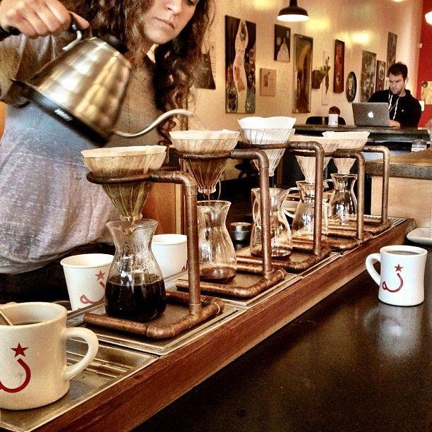 Completes the holy trinity of coffee in SF along with Sightglass and Four Barrel. The other two are better IMHO.