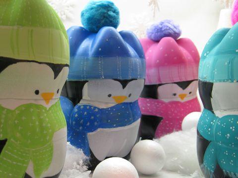 новогодние игрушки своими руками фото - дружные пингвины