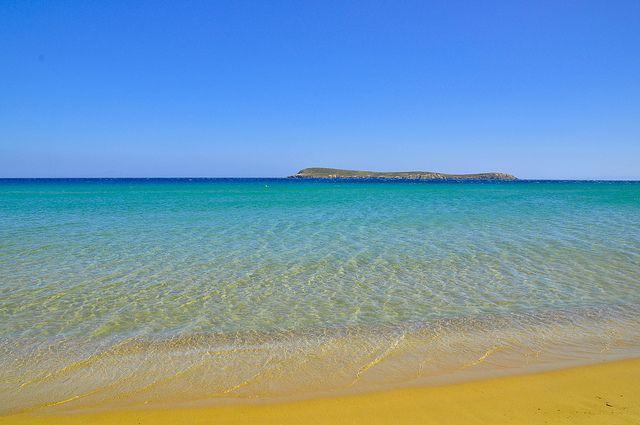 Golden Beach in Paros, Greece