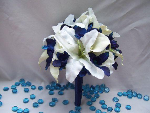 Bouquet de mariée en soie de Michael avec par ArtisticFloralDesign