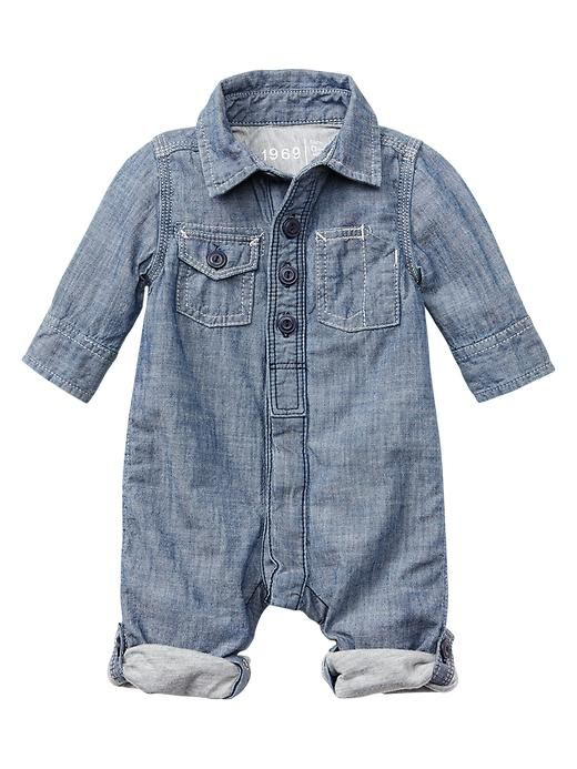 Chambray one piece baby gap would love this for wacey for Chambre one piece