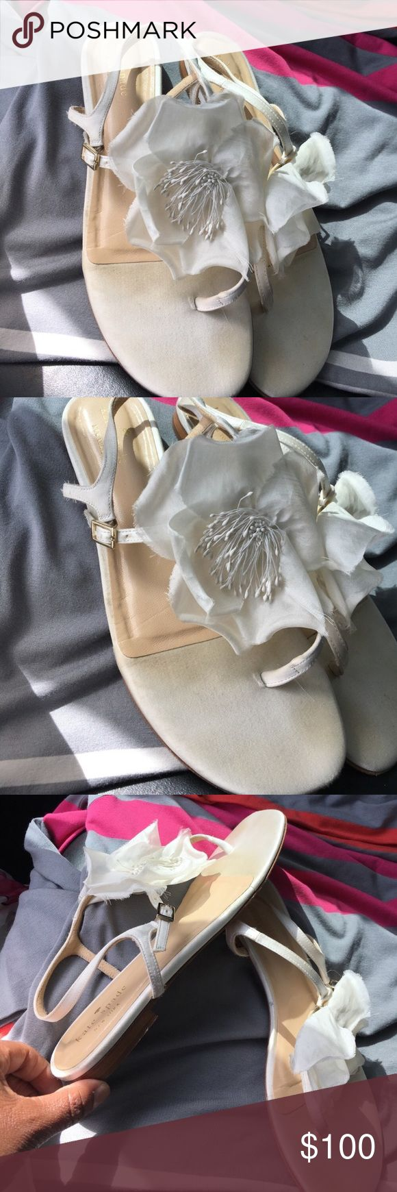 Kate Spade Verbana sandals Kate Spade Verbena sandal. Beautiful flower in top. Adjustable ankle strap. Size 8. Perfect for the summer. These are comfortable to walk around in. Does not come with box. kate spade Shoes Sandals