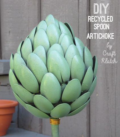 Artichokes from recycled spoons