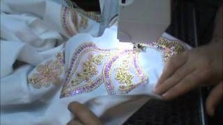 Embellishing a jacket for horse showing, via YouTube. Part 1 of 4