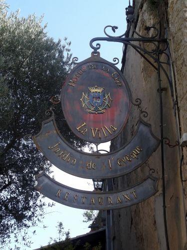 Sign Hotel de la Cité - Carcassonne - France.