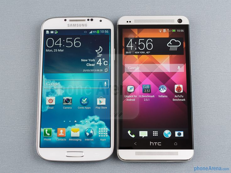 Samsung Galaxy S4 vs HTC One by phone Arena