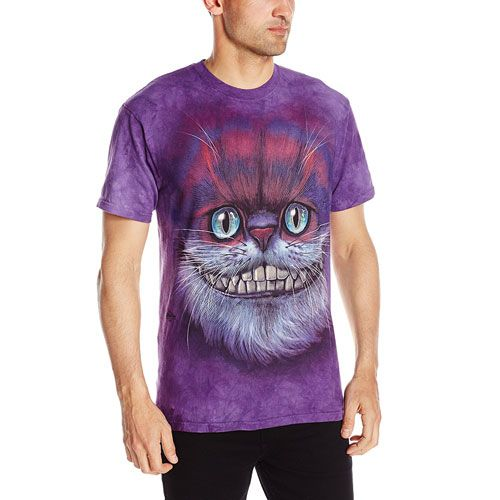 Big Face Cheshire Cat T-Shirt as gifts for cat lovers