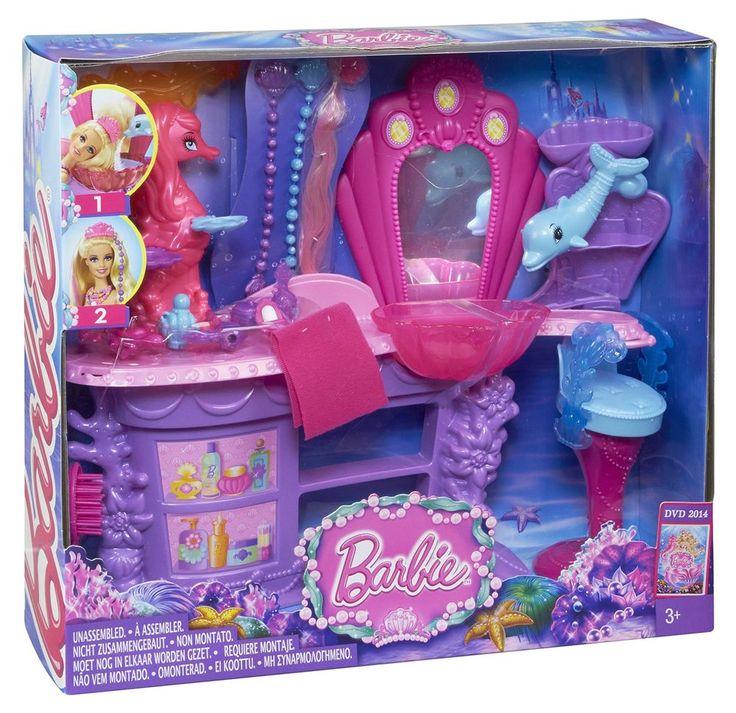 Barbie The Pearl Princess Mermaid Salon Playset Brand New!