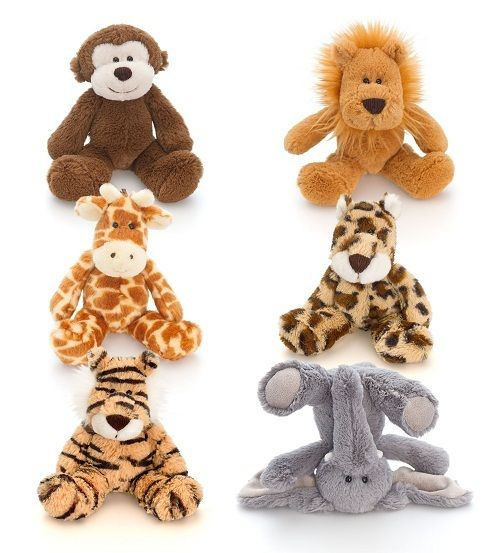 Keel Toys Flopsy Friends Wild 6 Asst 15cm available online at http://www.babycity.co.uk/