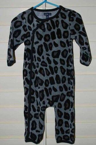 Baby Gap Girls Black Gray Leopard Velour Outfit Sleeper Pajamas 18 24M   eBay