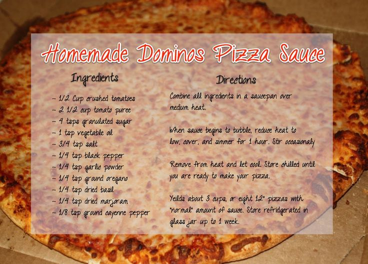 Copy Cat Dominos Pizza Sauce