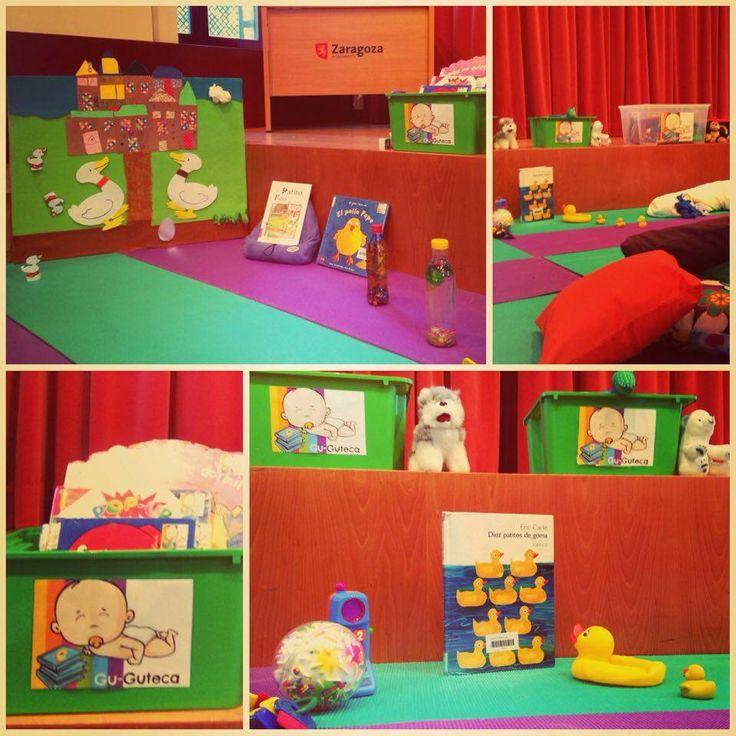 La Biblioteca se adapta a sus lectores: Gu-Guteca un espacio para que los bebés y sus familias disfruten de le lectura.