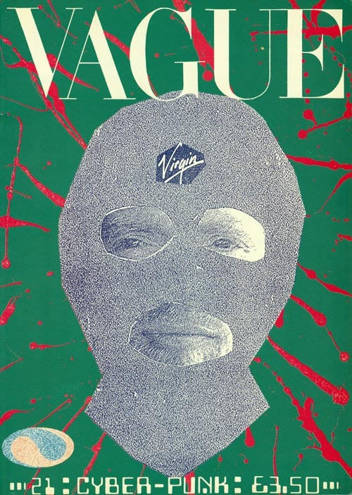 1988 copy of VAGUE magazine i picked up.  Jamie Reid front and back cover art !